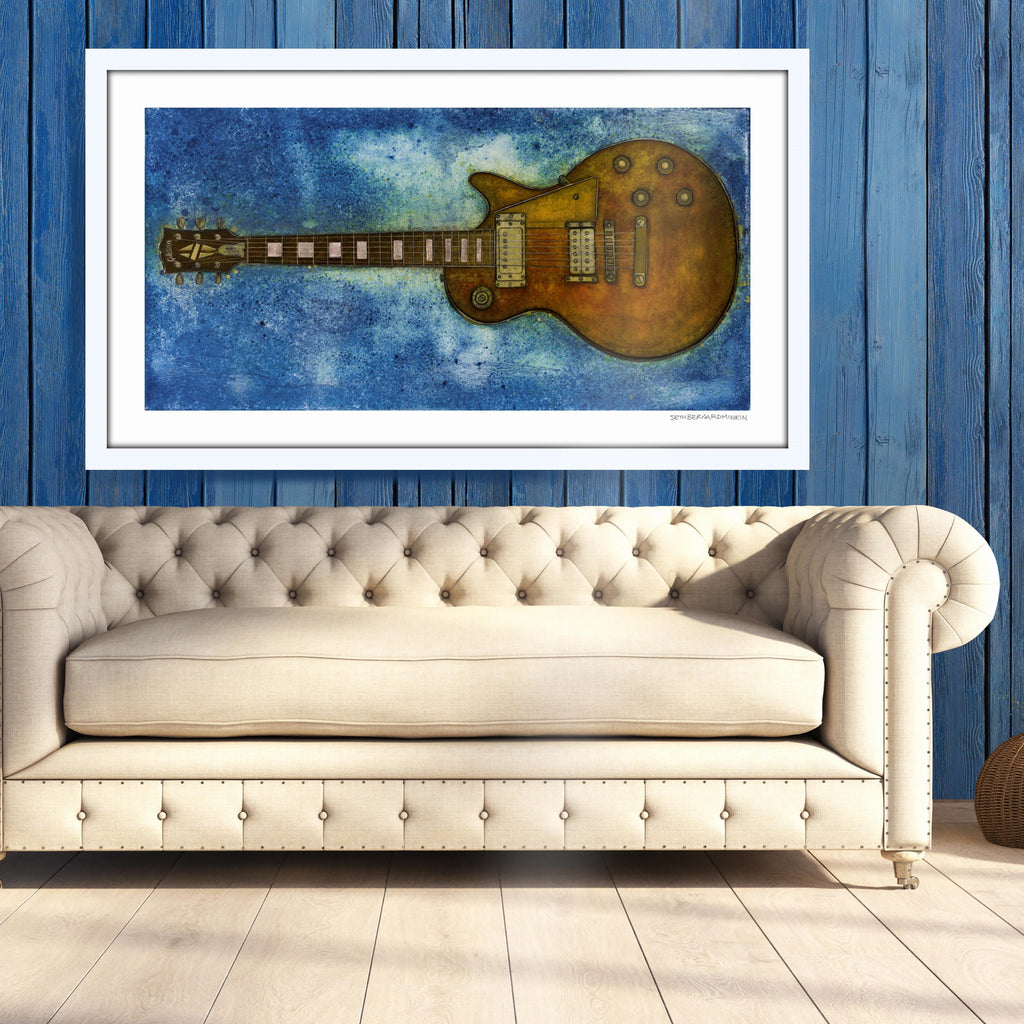 [gibson les paul custom] [limited edition print]