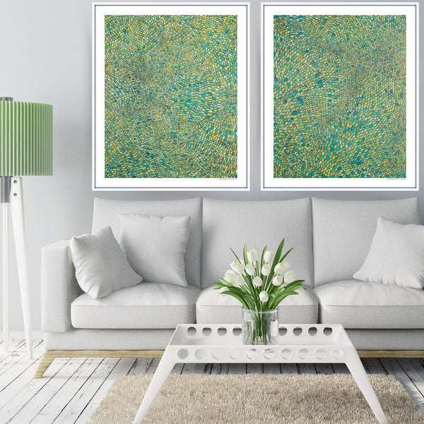 [Green Scales Diptych]  [Limited Edition Print Set | Printed Separately]