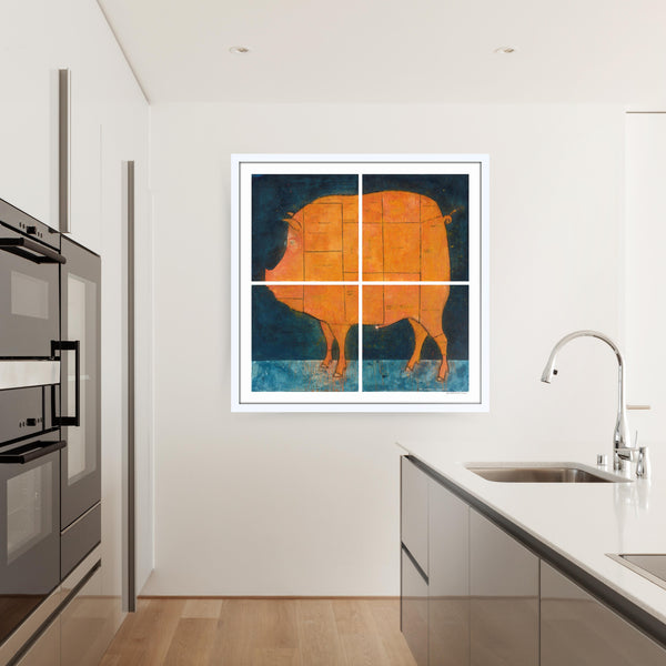 Pork Cut Butcher Chart Print (Printed Together)