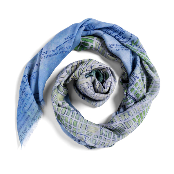 [blue manhattan]  [large oblong scarf]