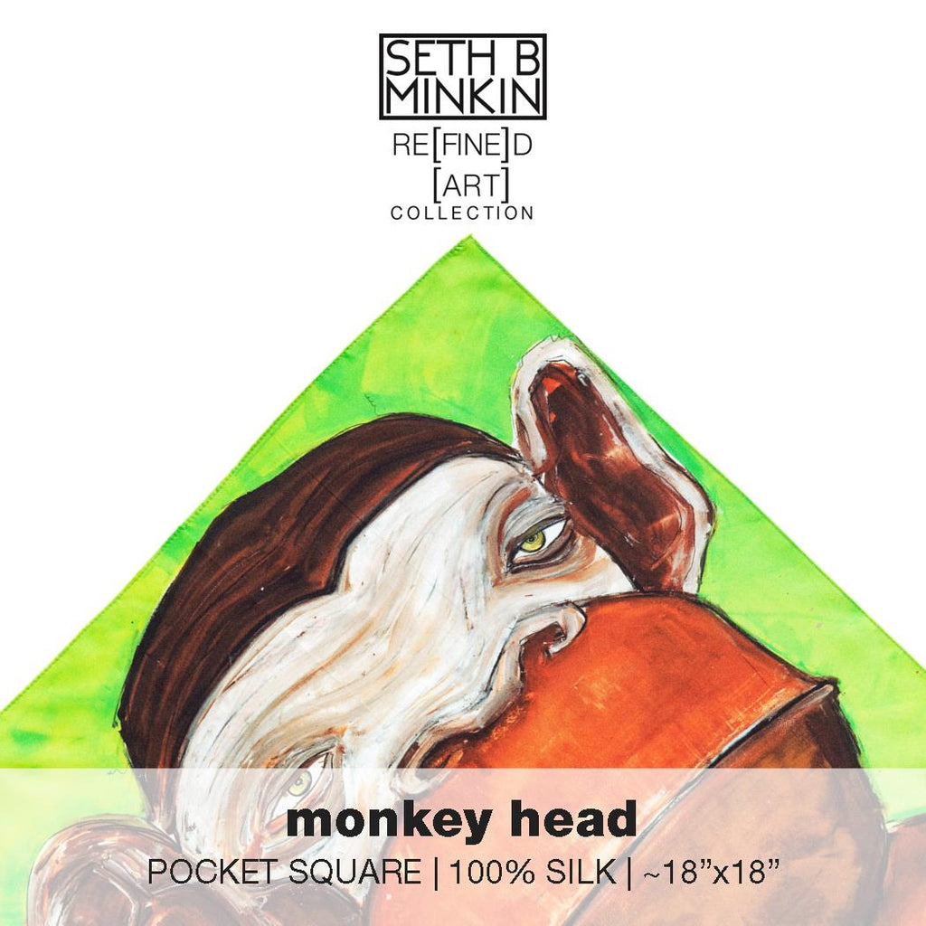 [monkey head]  [silk square]