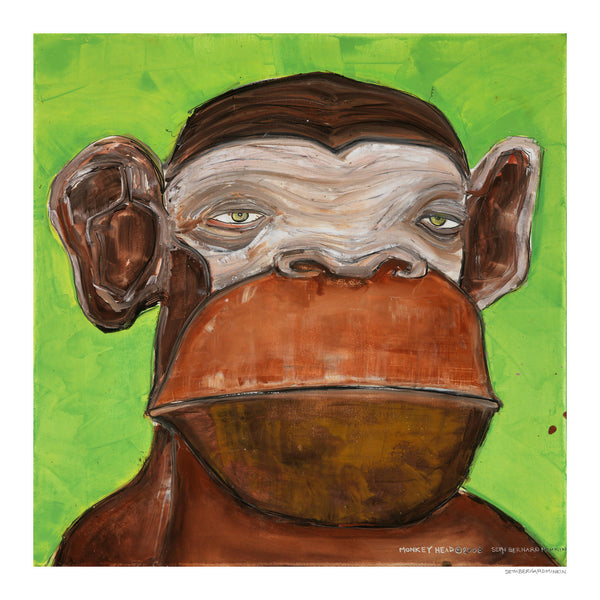 [monkey head] [limited edition print]