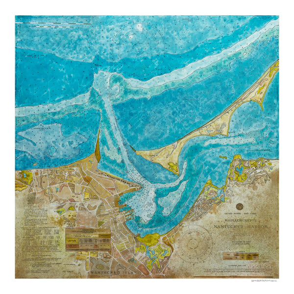 [nantucket harbor nautical chart] [limited edition print]