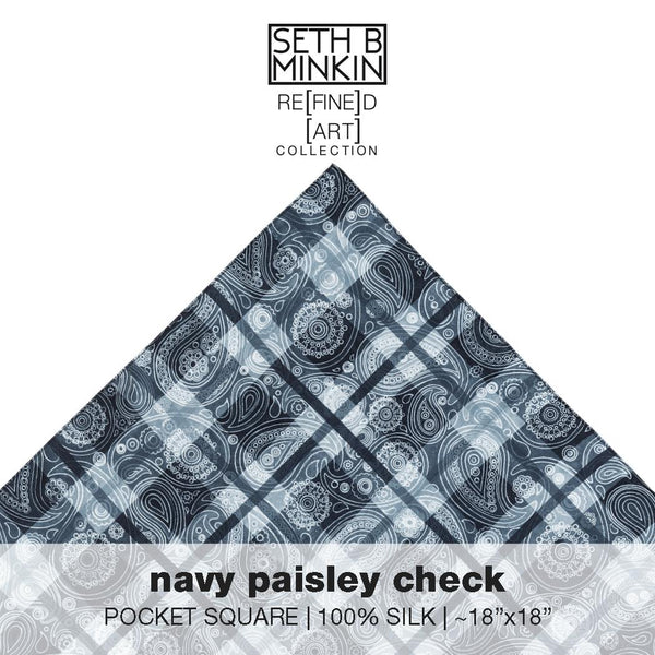 [navy paisley check]  [silk square]