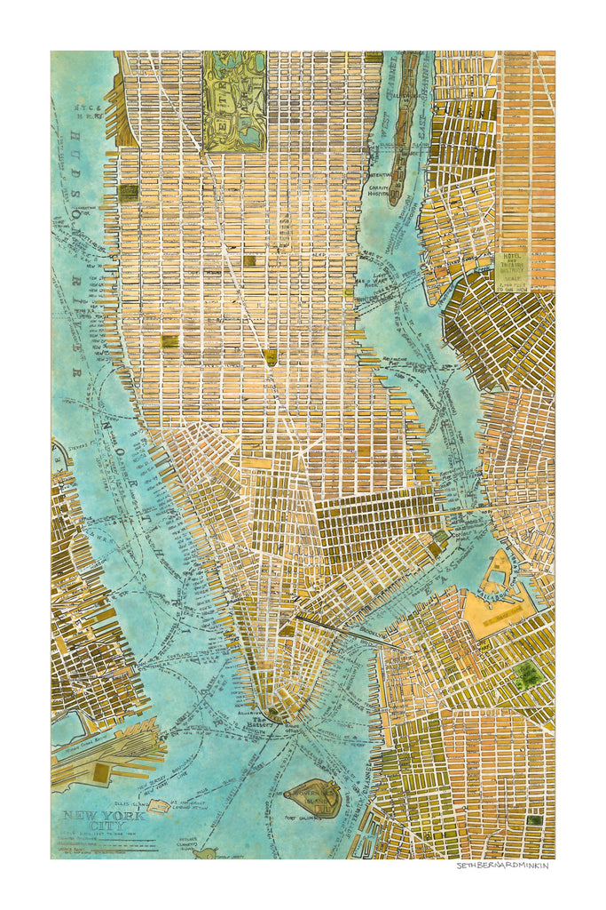 It's just an image of Manhattan Printable Map for royalty free