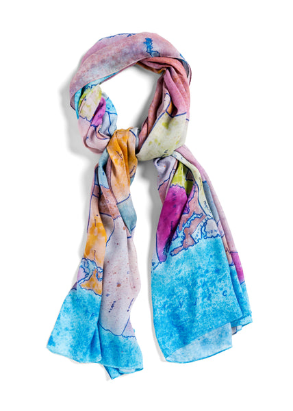 [us map]  [jumbo oblong scarf]