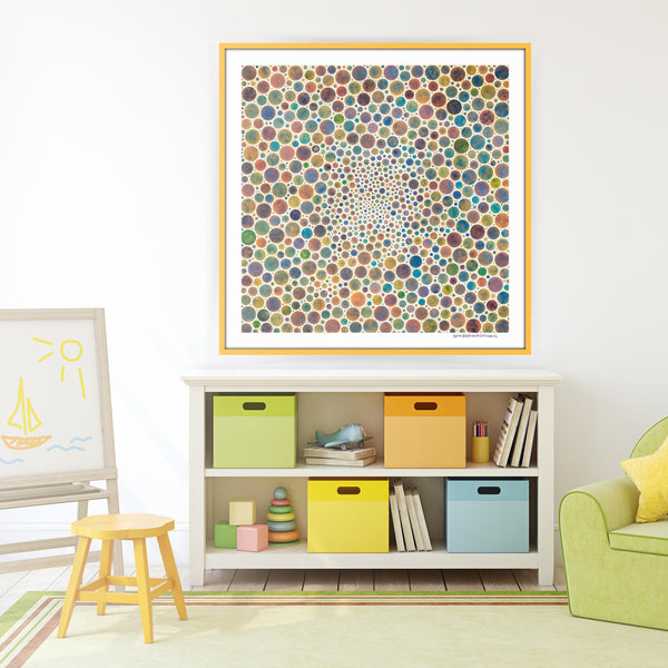 [white circles multicolor] [limited edition print]