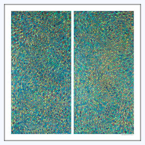 [blue scales] [limited edition print | printed together]