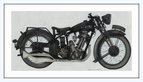 [1930 bsa sloper] [limited edition print]