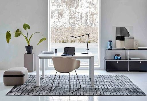 JANGEORGe Interiors and Furniture Cobble Rug Grey Office