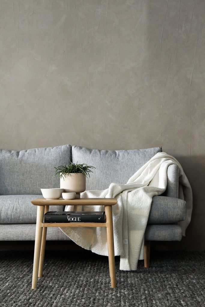 JANGEORGe Interiors and Furniture Plant Coffee Table Grey Couch