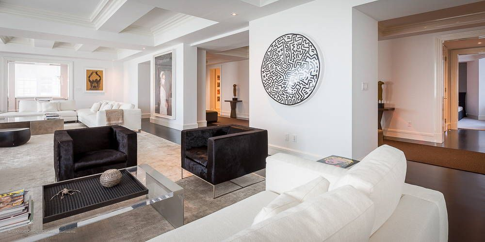 JANGEORGe Interiors and Furniture Project New York City Contemporary Living Room