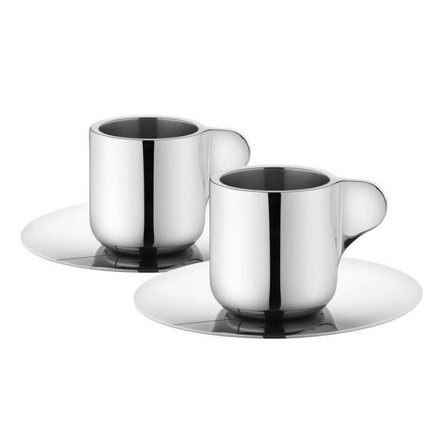 Tea with Georg espresso cup with saucer, 2pcs.