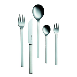 Mono A, 5pc. Set with Knife 43, Brushed Stainless Steel by Mono | JANGEORGe Interior Design