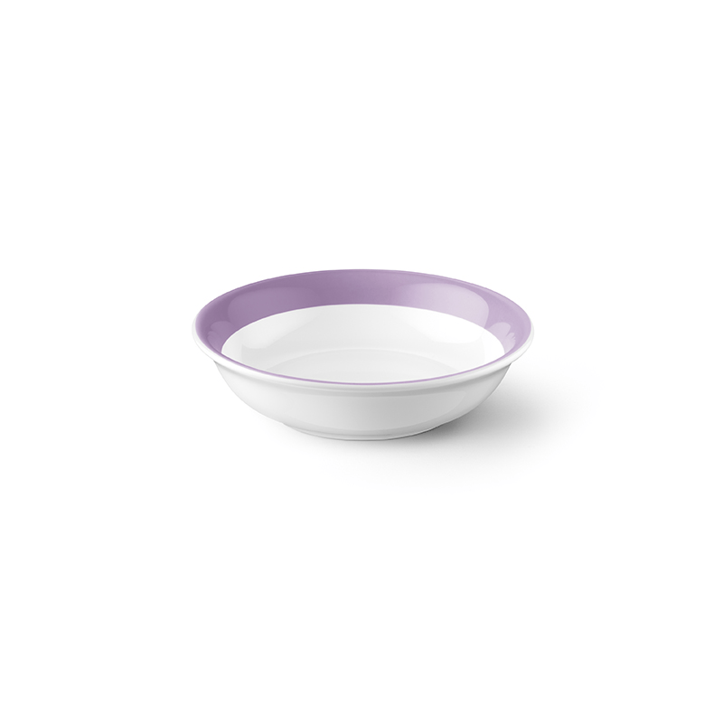 Solid Color Porcelain Oatmeal Bowl with Colored Rim