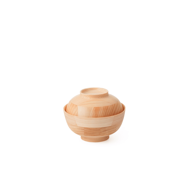 Japanese Cypress - Soup Bowl and Lid by Hikiyose | JANGEORGe Interior Design