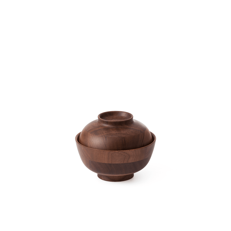 Walnut Soup Bowl and Lid | Hikiyose | JANGEORGe Interior Design