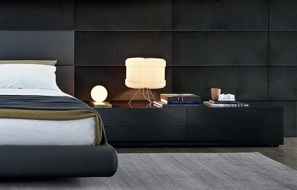 Dream - Night Table with 2 Drawers by Poliform | JANGEORGe Interior Design
