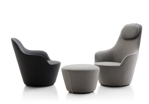 Harbor Swivel armchair with high back (HA80A) by B&B Italia | JANGEORGe Interior Design