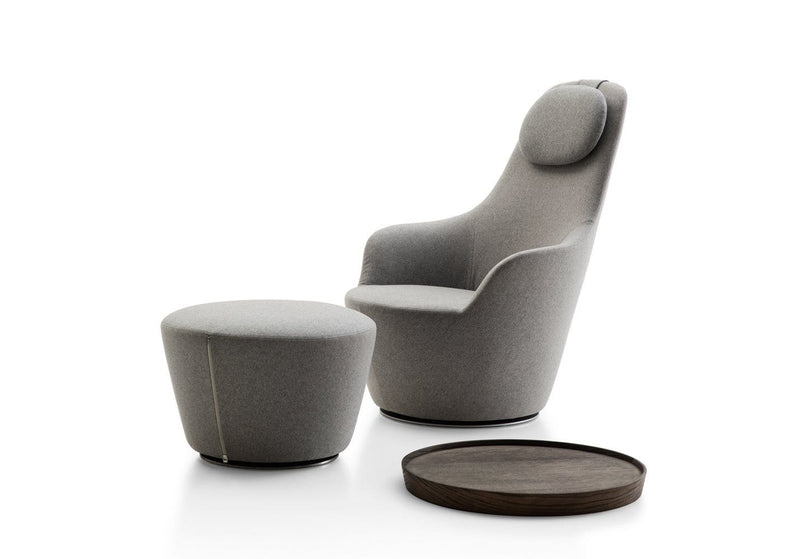 Harbor - Swivel Armchair with High Back by B&B Italia | JANGEORGe Interior Design