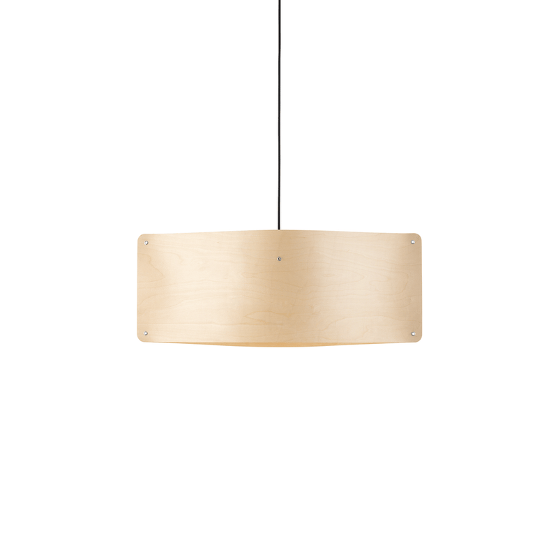Wide Pendant Small, Flexible Ash Wood by Finom | JANGEORGe Interior Design