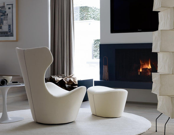 Grande Papilio, fur swivel armchair 50 year limited edition