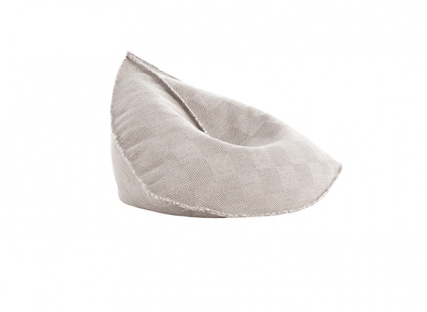 Taupe Sail - Pouf 100% New Wool | JANGEORGe Interior Design