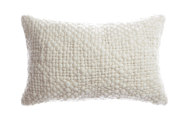 Alma - Chunky Wool Lumbar Pillow | Homelosophy | JANGEORGe Interior Design