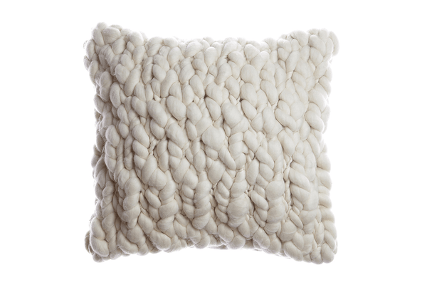 Clouds - Chunky Wool Throw Pillow by Homelosophy | JANGEORGe Interior Design