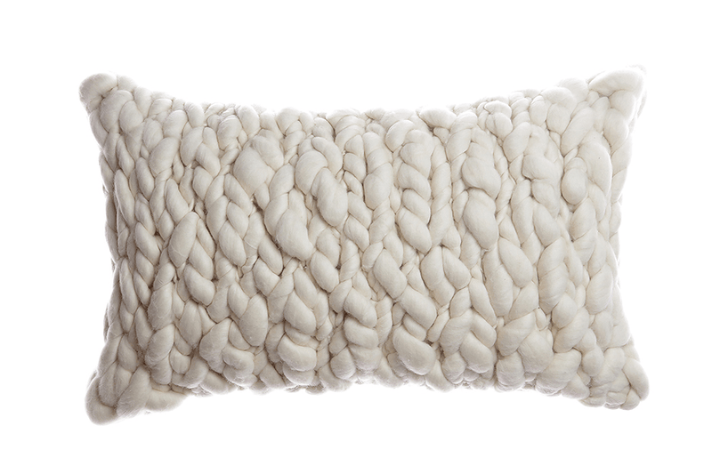 Clouds - Chunky Wool Throw Pillow - JANGEORGe Interior Design - Homelosophy
