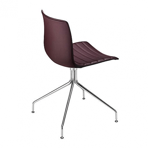 Catifa 46/0259 Chair with chromed steel swivel trestle base and upholstered shell