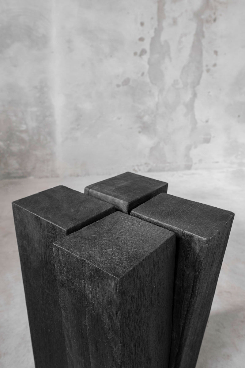 Four Legs Stool Wood | Arno DeClercq | JANGEORGe Interior Design