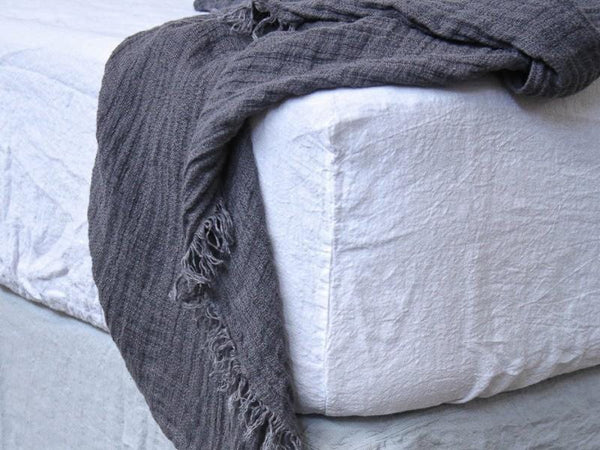 Basix Linen Fitted Sheet | Hale Mercantile Co. | JANGEORGe Interior Design