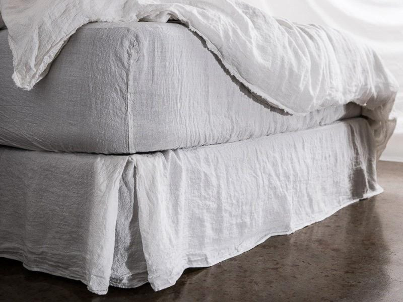 Basix - Linen Fitted Sheet by Hale Mercantile Co. | JANGEORGe Interior Design