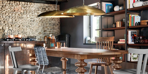 Brass suspension light