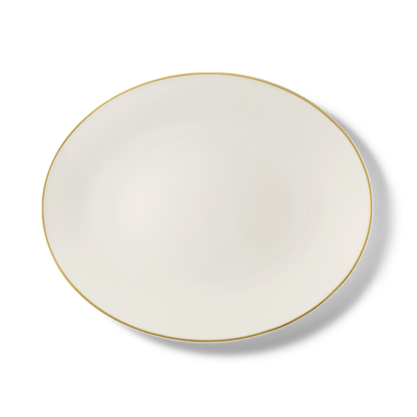 Golden Lane - Oval Platter 15.4in | 39cm (Ø) | Dibbern | JANGEORGe Interior Design
