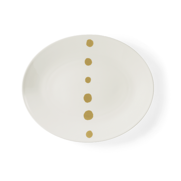 Golden Pearls - Oval Platter 12.6in | 32cm (Ø) | Dibbern | JANGEORGe Interior Design