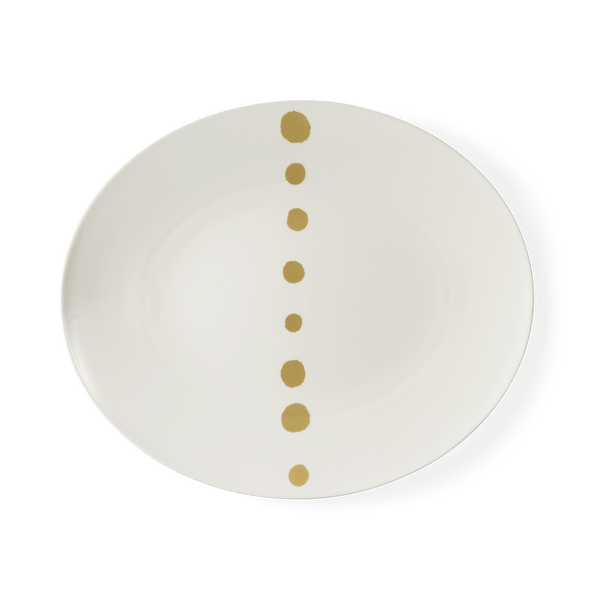 Golden Pearls - Oval Platter 15.4in | 39cm (Ø) | Dibbern | JANGEORGe Interior Design