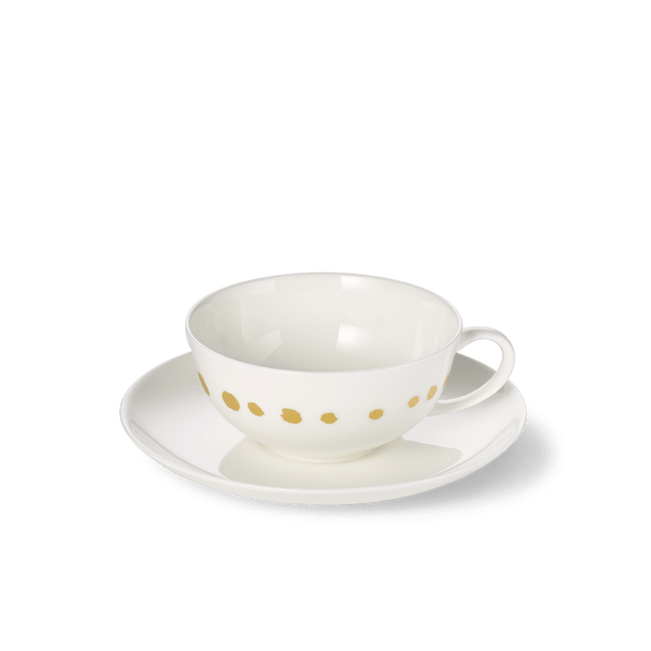 Golden Pearls - SET - Saucer & Tea Cup 0.2L | Dibbern | JANGEORGe Interior Design