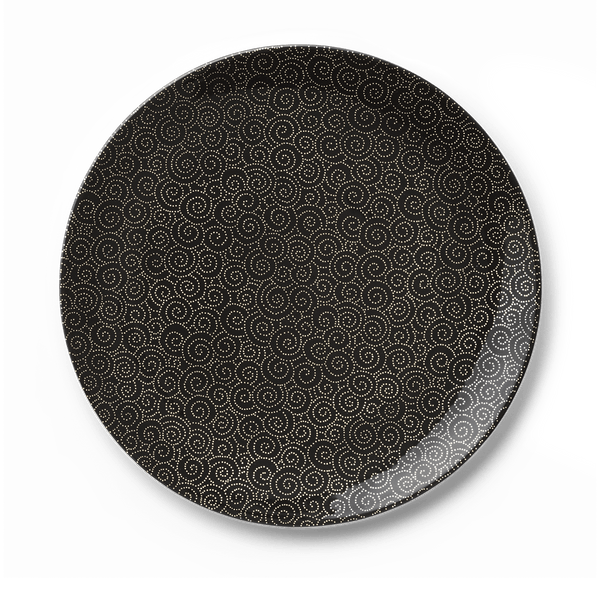 Ornament Gold/Black - Charger Plate 12.6in | 32cm (Ø) | Dibbern | JANGEORGe Interior Design