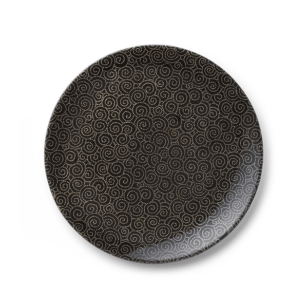 Ornament Gold/Black - Dinner Plate 11in | 28cm (Ø) | Dibbern | JANGEORGe Interior Design