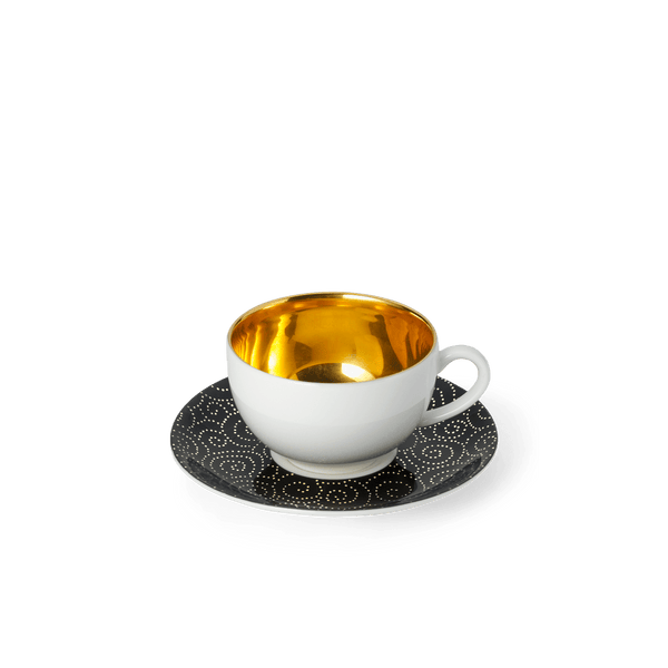 Ornament Gold/Black - Espresso Saucer 4.4in | 11.3cm (Ø) | Dibbern | JANGEORGe Interior Design
