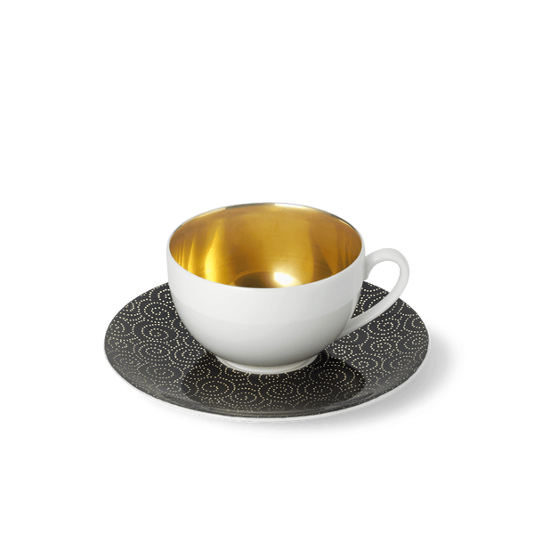 Ornament Gold/Black - SET - Saucer & Goldfever Coffee Cup 0.25L | Dibbern | JANGEORGe Interior Design