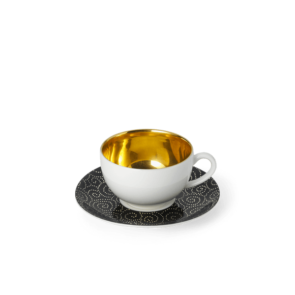 Ornament Gold/Black - SET - Saucer & Goldfever Espresso Cup 0.10L | Dibbern | JANGEORGe Interior Design