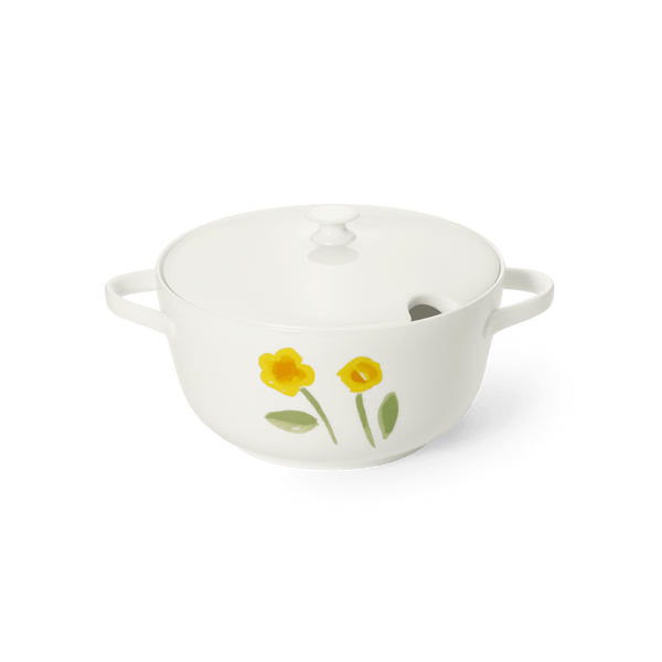Impression (Yellow Flower) - Base of Vegetables Dish 67.6 fl oz | 2L | Dibbern | JANGEORGe Interior Design