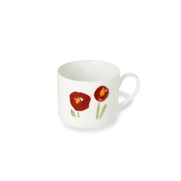Impression (Red Poppy) - Coffee Cup Cylindrical 8.5 fl oz | 0.25L | Dibbern | JANGEORGe Interior Design