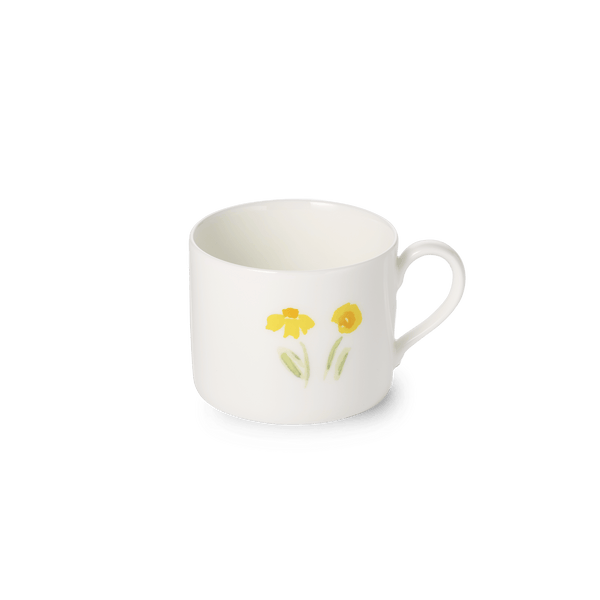 Impression (Yellow Flower) - Coffee Cup Cylindrical 8.5 fl oz | 0.25L | Dibbern | JANGEORGe Interior Design