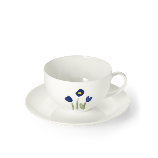 Impression (Blue Flower) - SET - Saucer & Cafe Au Lait Cup 10.8 fl oz | 0.32L | Dibbern | JANGEORGe Interior Design