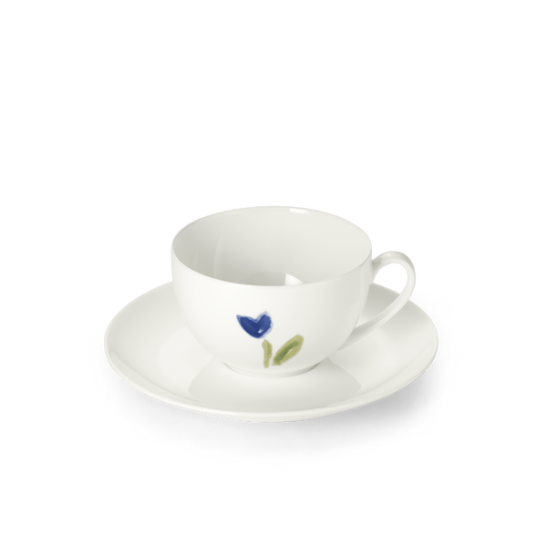 Impression (Blue Flower) - SET - Saucer & Coffee Cup 8.5 fl oz | 0.25L | Dibbern | JANGEORGe Interior Design