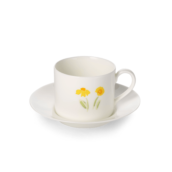 Impression (Yellow Flower) - SET - Saucer & Coffee Cup 8.5 fl oz | 0.25L | Dibbern | JANGEORGe Interior Design